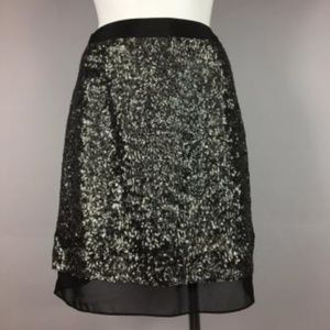 NWT W118 BY WALTER BAKER Gorgeous Silver sequin Bl